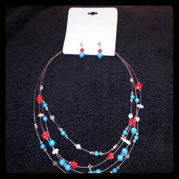 Ashley Cooper Jewelry - Ashley Cooper 4 Row Beaded Necklace & Earrings